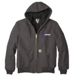Carhartt Quilted Flannel Lined Hooded Duck Jacket