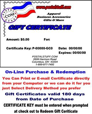 Postalstuff Gift Certificate