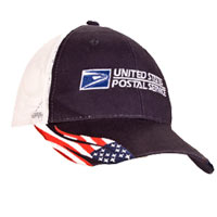 Patriotic Cotton Twill Mesh Back Cap