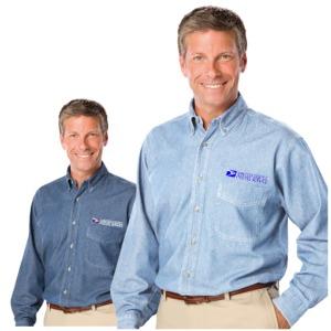 Men's Sandwashed Long Sleeve Denim Shirt