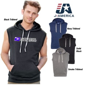 Triblend Sleeveless Hooded Sweatshirt by J. America