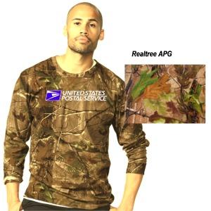 Men's Realtree Camouflage Crew Neck L/S Tee