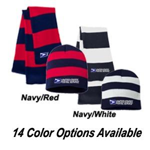 Rugby Stripe Beanie & Scarf Set