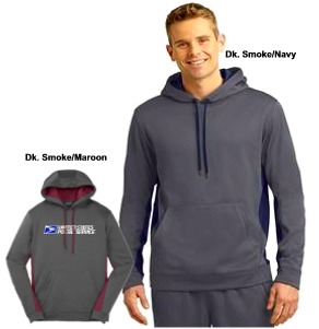 Men's Sport-Wick® Fleece Colorblock Hooded Pullover