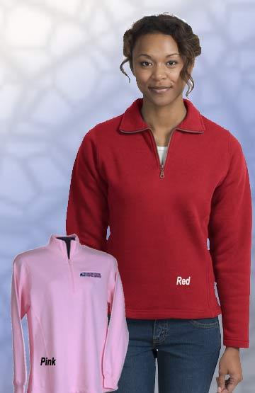 Ladies Cadet Collar 1/4 Zip Sweatshirt