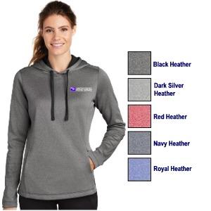 Ladies Sport-Tek Sport-Wick Heather Fleece Hooded Pullover
