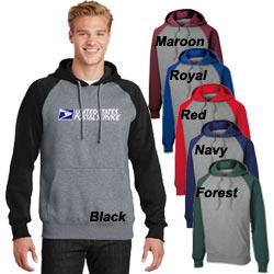Unisex Raglan Colorblock Pullover Hooded Sweatshirt