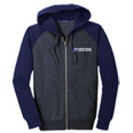 Unisex Raglan Colorblock Full Zip Hooded Sweatshirt