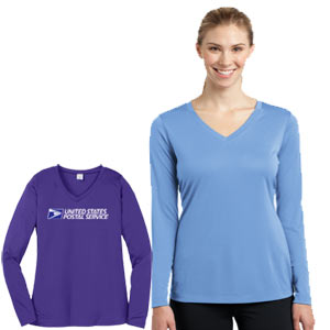 Ladies Long Sleeve Competitor V-Neck Tee