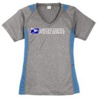 8c365c59d Ladies Heather Colorblock Contender V-Neck Tee