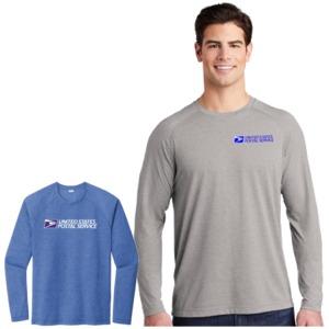 Men's Sport-Tek L/S Tri-Blend Wicking Raglan Sleeve Tee