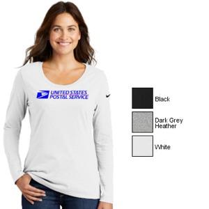 Ladies Nike L/S Cotton Scoop Neck Tee
