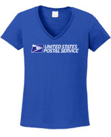 Ladies 100% Cotton V-Neck Tee