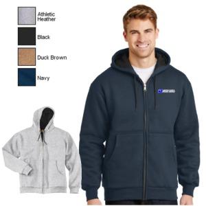 Heavyweight Full-Zip Hooded Sweatshirt w/Thermal Lining