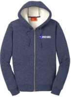 Sherpa Lined Hooded Fleece Jacket
