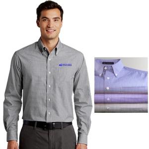 Men's Plaid Pattern Easy Care Shirt