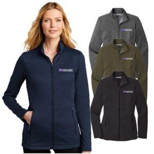 Ladies Striated Micro-Fleece Jacket
