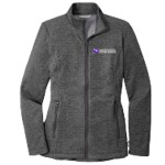 Ladies Striated Micro-Fleece Jacket