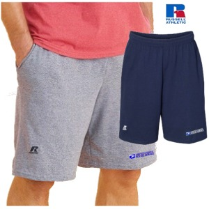 "Essential Pocketed Jersey Cotton 10"" Shorts by Russell Athletic"