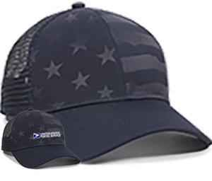 Debossed Stars and Stripes Mesh Back Cap