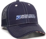 US Flag Sandwich Bill Mesh Back Twill Cap